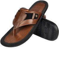 Nonch Le Dark Brown And Black Leather Sandals