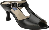 REAL BLUE Women Black Heels Black