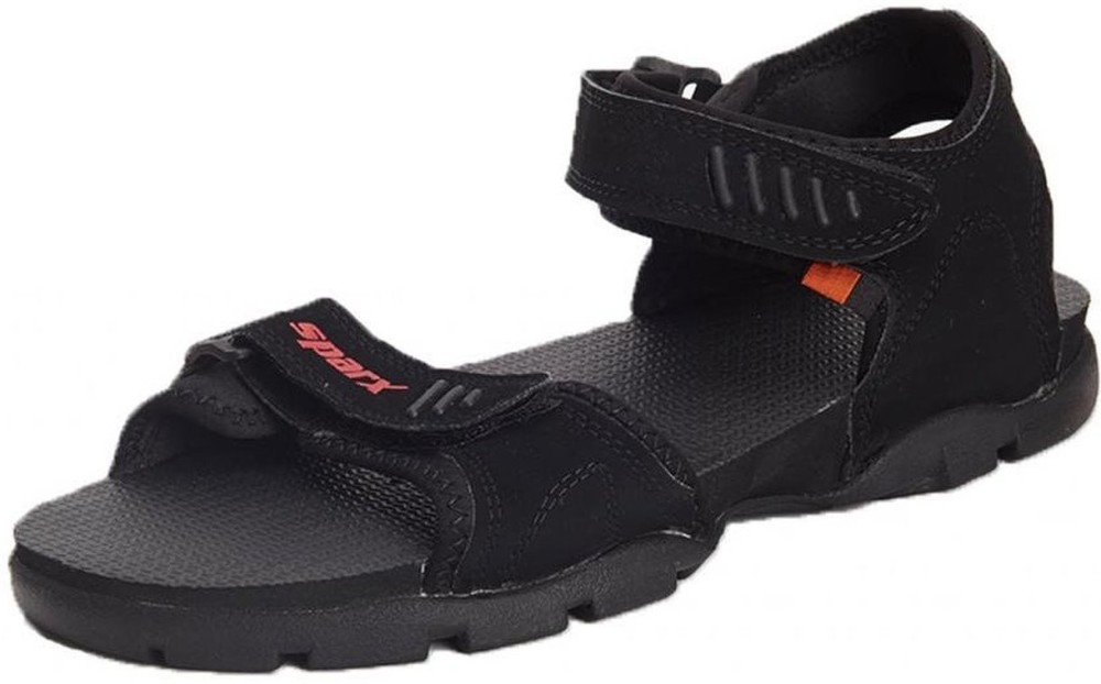Sparx Men Black Sandals Black