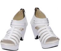 Scantia Women White, Beige Heels White, Beige