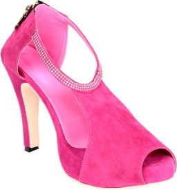 Soft & Sleek Pink Strap Girls Heels