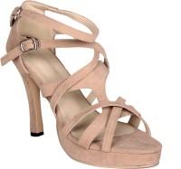 Soft & Sleek Criss Cross Cream Heels