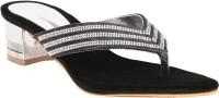 Adorn A10-25206 Black Women Black Heels Black