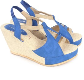 Urban Woods Blue Women Wedges