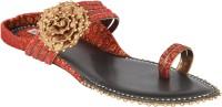 Indulgence Maroon Bow Sandals Flats