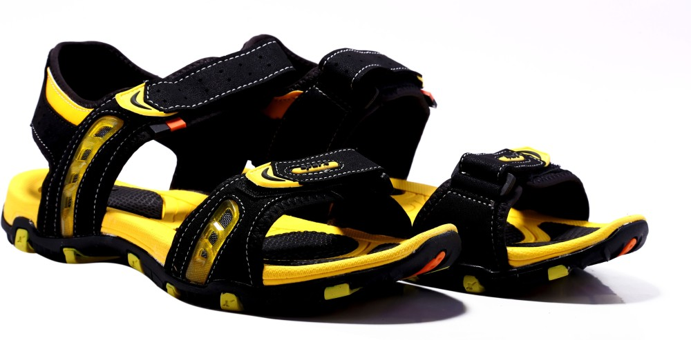Sparx Men Black Yellow Sandals Black Yellow