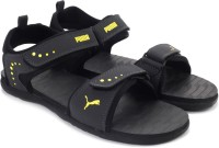 Puma Men Black, Grey, Yellow Sports Sandals Black, Grey, Yellow