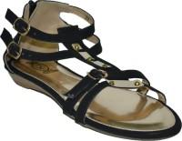 TSF Black Sandal Flats
