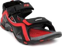 JQR Men Black, Red Sandals Black, Red