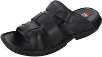 Zohran Black Leather Sandals