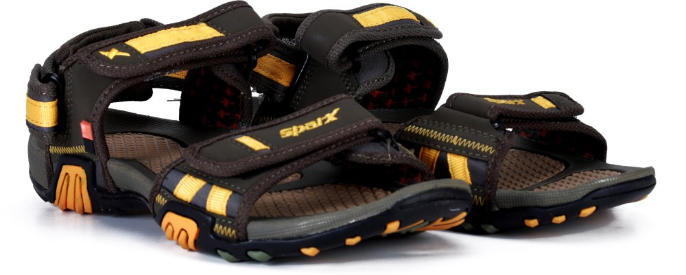 Sparx Men Olive Yellow Sandals Olive Yellow