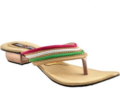 Muxyn Women Footwear Heels (Yellow)
