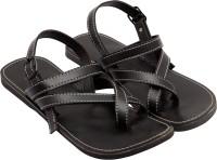 Ridhi Sidhi Black Leather Sandals