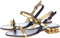 Vero Couture Glided Strap Sandals Leather Flats