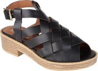 Truffle Collection Women Black Heels Black