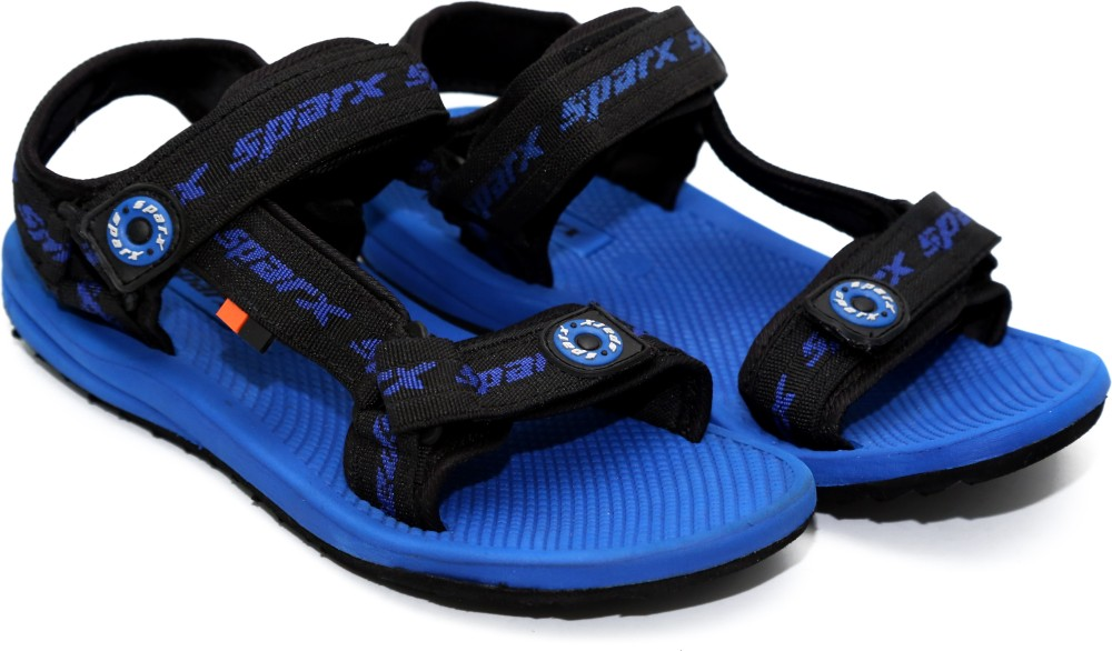 Sparx Men Black Blue Sandals Black Blue