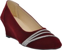 Altek Women Maroon Wedges Maroon