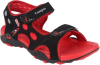 Campus Men Black, Orange Sandals Black, Orange