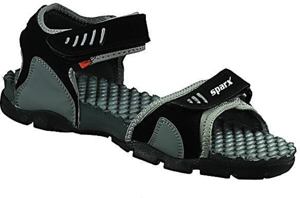 Sparx Black Sandals For Men