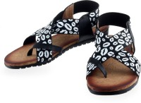Urban Tape Women Black, White Flats Black, White