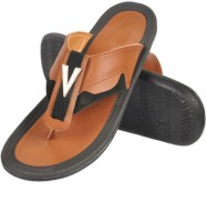 Nonch Le Brown And Black Leather Sandals