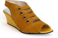 Fadrin Women Yellow, Yellow Heels Yellow, Yellow