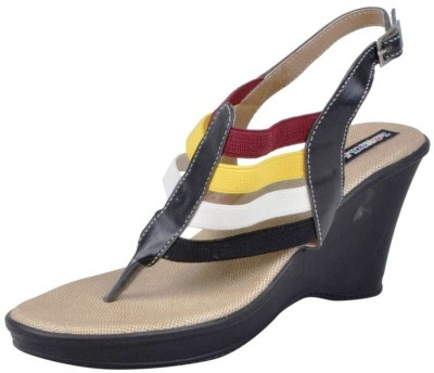Funky Town Funky Town Wedges (Black)