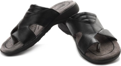 Bata Bata Burberry T Leather Sandals (Black)