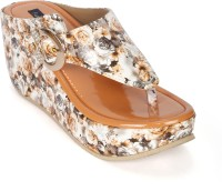 Funku Fashion Women Beige, Beige Wedges Beige, Beige