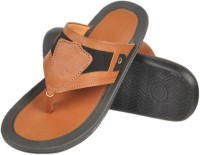 Nonch Le Light Brown And Black Leather Sandals