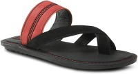 Get Glamr Casual Suede Slip On Men Red Sandals Red