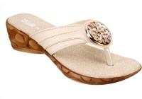 Titas Cream Casual Slippers Wedges