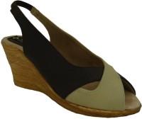 Senso Vegetarian Shoes Ladies Brown Peep Toe Wedges