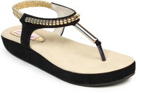 Do Bhai Arba-Sandal-Black Flats