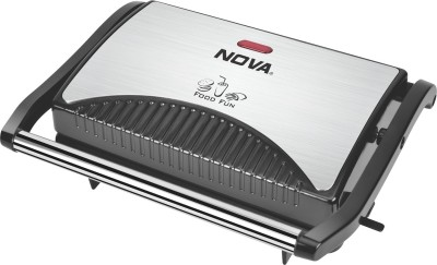 Nova 2 SLICE SANDWICH GRILL MAKER Grill (Black & Steel)