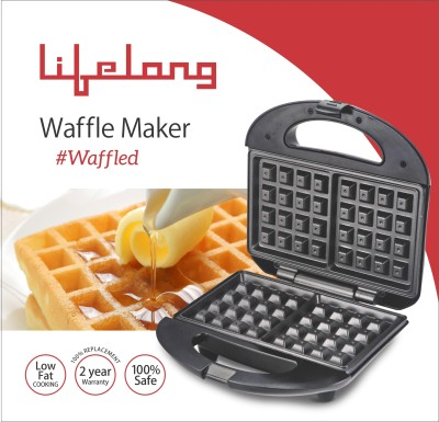Lifelong 105 Waffle maker (Black, Stainless Steel)