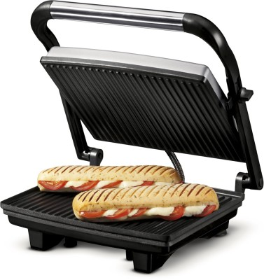Nova 2 Slice Panini Grill Sandwich Press (Grey)