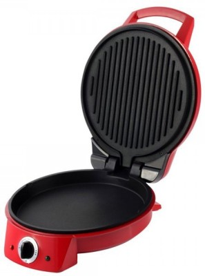 Wonderchef Pizza Italia 1500W Open Grill, Roti Maker, Pizza Pan, Grill, Waffle (Red)