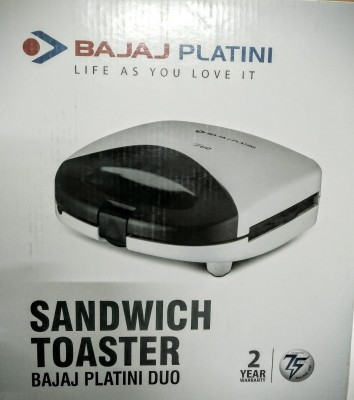 BAJAJ PLATINI DUO SANDWICH TOASTER Grill, Toast (WHITE & BLACK)