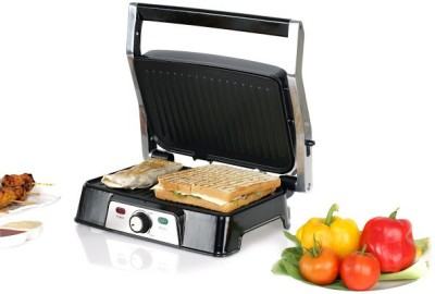 Nova 3 in 1 Panini Grill Press Grill (Black)