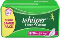 Whisper Ultra Clean - Xl Wings 30 Pads Pack Sanitary Pad (Pack Of 30)