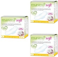 Masmi Pure Cotton Soft Ultra Thin Wings Individually Wrapped Day Napkin Sanitary Pad (Pack Of 3)