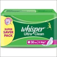 Whisper Ultra Clean XL Wings Sanitary Pad (Pack Of 30)