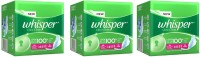 Whisper Ultra Clean XL-Wings(15pads) Sanitary Pad (Pack Of 3)