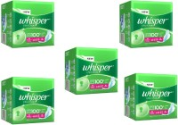 Whisper Ultra Clean XL-Wings(15pads) Sanitary Pad (Pack Of 5)