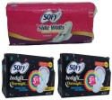 Sofy Side Walls Dry Ultraslim Xl Day And Xxl Night Sanitary Pad - Pack Of 22