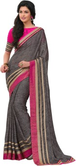 Rajesh Silk Mills Printed Fashion Poly Silk Sari
