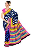 Priyanka Design Checkered Silk Sari