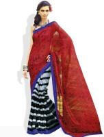 Vishal Geometric Print, Striped Silk Sari