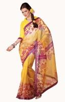 De Marca Printed Net Sari